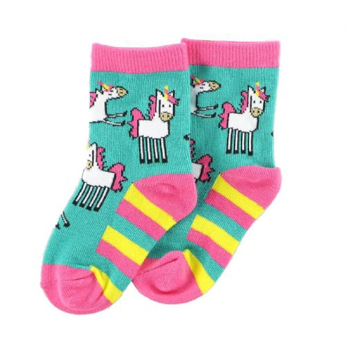 LazyOne Infant Socks with Unicorn design